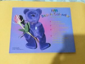 1999 Beanie Calendar &Reference Guide NEVER EVEN OPENED UP OR USE FREE SHIPPING
