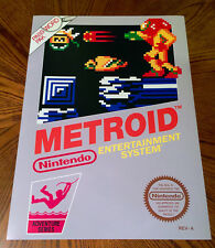 "METROID NES box art retro video game 24"" poster print nintendo Samus 80s"