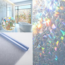 3D Privacy Window Glass Film Sticker Static PVC Frosted DIY Home Bathroom Decor
