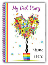 A5 YOU PERSONALISE DIET DIARY SLIMMING & WEIGHT LOSS/3 MONTHS FOOD TRACKING/TREE