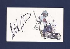 Stephane Fiset signed Quebec Nordiques hockey index card
