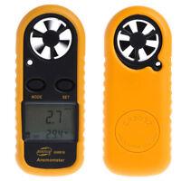 Digital  Useful Wind-Speed Backlight Airflow Gauge Meter Anemometer Thermometer#