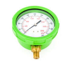 "4EFH7 4"" Green Test Pressure Gauge 