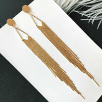 Fashion Ear Stud Drop Jewelry Statement Dangle Long Women Tassel Earrings