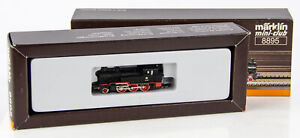 Vintage Marklin Mini-Club 8895 German Z Scale 2-6-0 Steam Locomotive DB 74 701