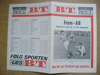Football Programme 1967- FREM v AB, 11 April (Danish football Programm)