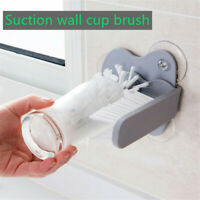 Kitchen Suction Wall Cup Bottle Cleaning Brush Rotating Glass Cleaner Washer