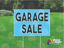 Garage Sale 18x24 Yard Sign Coroplast Printed Single Sided W Free Stand