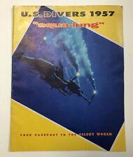 """US Divers 1957 """"Aqua-lung"""" Vintage Diving Catalog"""