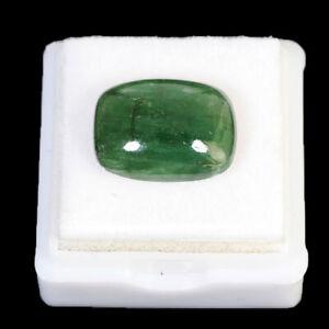 10.35 Cts Natural Tourmaline Magnificent Green Cushion Huge Cabochon Gemstone