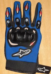 Moto Handschuhe Größe XL Leder Farbe Blau Gebraucht