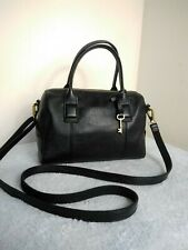 Fossil 1954 Cow Hide Leather Small Grab Shoulder Cross Body Slouchy Handbag N32