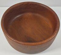 "Vintage Good Wood Teak Salad Bowl 10"" Made In Thailand"