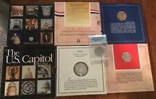 LOT SET SILVER COMMEMORATIVE 1994 $1 US CAPITOL, 1993 BILL OF RIGHTS & ELLIS 1/2