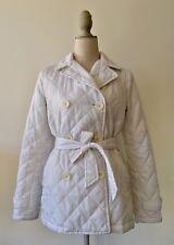 Uniqlo white ladies light jacket with belt size 10