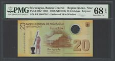 Nicaragua 20 Cordobas 2007(2012) P202a Replacement Uncirculated Graded 68