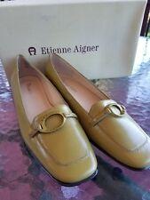 Etienne Aigner 6.5 womans Leather Olive Flats
