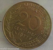 20 centimes marianne 1977 : SUP : pièce de monnaie française
