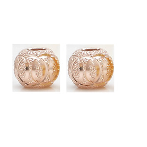 2 Pcs 925 Sterling Silver Matte Spacer Beads 8mm Necklace Bracelet DIY Findings