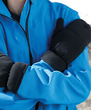 Result Gloves Mittens Fleece Padded Lined Stretch Elasticated Fingerless (R363X)
