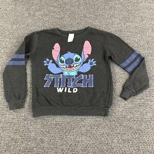 Disney Kids Crewneck Sweatshirt Size M(7-9) Disney Movie Lelo And Stitch Graphic
