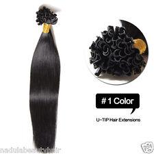 100S Keratin Pre Bonded Nail U Tip Glue 100% Remy Real Human Hair Extensions 50g