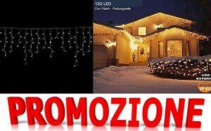 Tenda Luminosa Natalizia NATALE LUCI PROLUNGABILE 3Mx60CM  FLASH 120 LED BIANCO