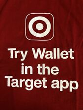Original TARGET Department Store Retailer Try Wallet Target App Adult T-shirt M