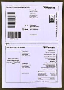 50 Hermes Etiketten Original selbstklebende Versandetiketten DIN A4 Aufkleber