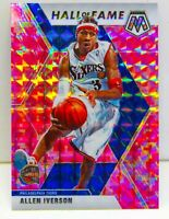 Allen Iverson 2019-20 CAMO PINK MOSAIC PRIZM Hall of Fame Card #287 76ers Team