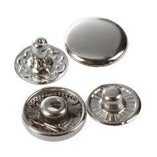 50X Set Botones de Presion Cierre Metal FornitUnas para Pulsera T5