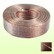 20M 2 X 4MM MULTI STRANDS SPEAKER CABLE OXYGEN FREE COPPER CLAD AUDIO WIRE