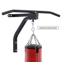 Heavy-duty Wall Mounted Pull Up Bar W/ Punching Bag Hanger Boxing Hook