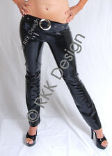 *HOT* Black Low Waisted Latex Pants Trousers SMALL
