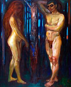 Metabolism by Edvard Munch A2+ High Quality Canvas Art Print