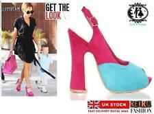 Block Heels Sandals 70s Theme
