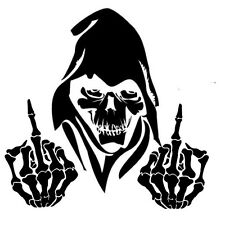 Car window decal truck outdoor sticker awesome wicked grim reaper death evil F U