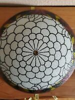 Victorian RARE GLASS ANTIQUE LAMP SHADE USED WITH NO FLAWS!  SHIPPED W USPS.