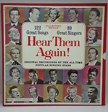 HEAR THEM AGAIN 122 Great Songs 89 Great Singers Collectors Edition Box Set LP