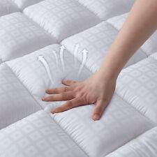 Mattress Pad Cover Bed Topper Protector Pillow Top Soft Hypoallergenic 3 Sizes