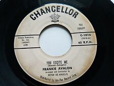 FRANKIE AVALON - You Excite Me / Darlin' 1958 CHANCELLOR Rock n Roll 7""