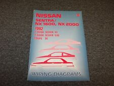 1992 Nissan NX 1600 2000 Electrical Wiring Diagram User Guide Manual 1.6L 2.0L