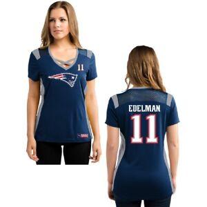 NFL Women's Shirt New England Patriots Julian Edelman Jersey Draft16