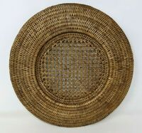 VTG African Makenge Zambia Mbunda Handwoven Root Wedding Basket Tray Lid #2 BR20
