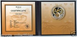 Niue 2012 Golden Snakes Coin Lunar Year 925 Silver New Zealand OGP Box & COA