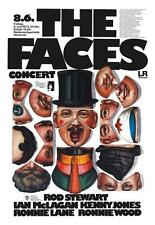 Faces Poster *Amazing Art* Live in Germany Rod Stewart Ronnie Wood Ronnie Lane