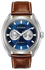 Citizen Eco-Drive Men's Paradex Quartz Brown Leather Strap 44mm Watch BU4010-05L