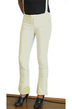 NEW NOLITA WOMEN  ITALY JEANS 4 6 8 10 28 $400 PANTS BRACES OVERALLS WHITE CREAM