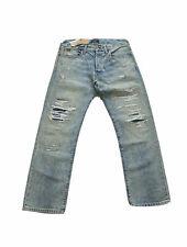Polo Ralph Lauren The Classic Fit Rigid Distressed Jeans Blue Men's SZ 32 x 30
