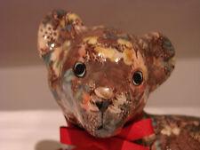 Wildkatze,Designerstück,  22 cm, unlkat  mit Blumendekor